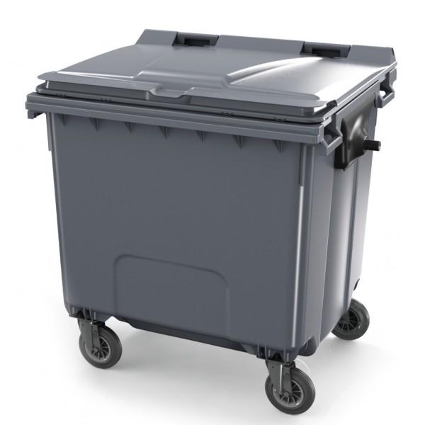 Pojemnik na odpady 1100 L Contenur z płaską pokrywą