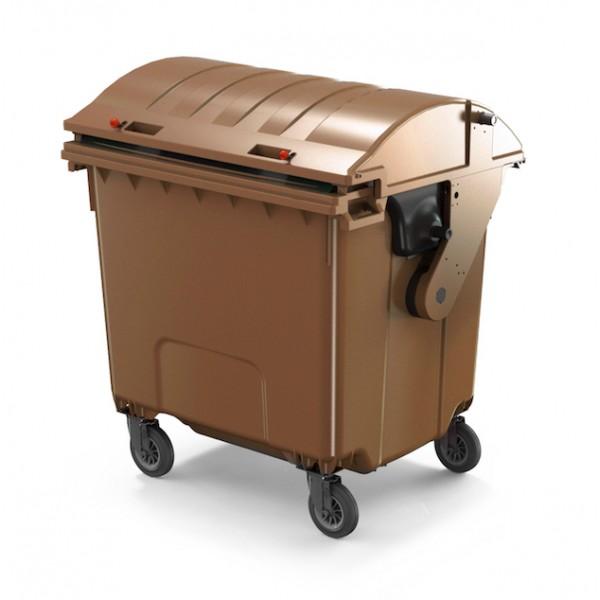 Pojemnik na odpady z pokrywą półokrągłą  1100 L Contenur