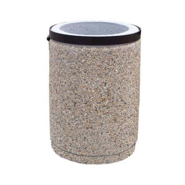 Kosz betonowy z obejmą 40 L