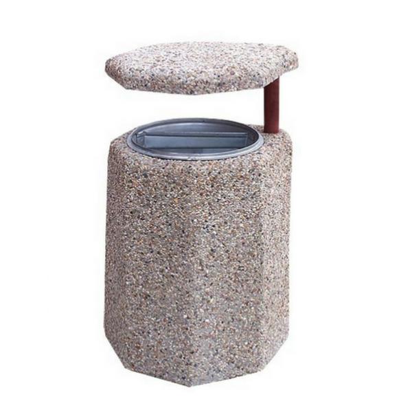 Kosz betonowy z daszkiem Leon 40 L