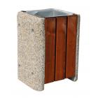 Kosz betonowo- drewniany Miłosz 60 L