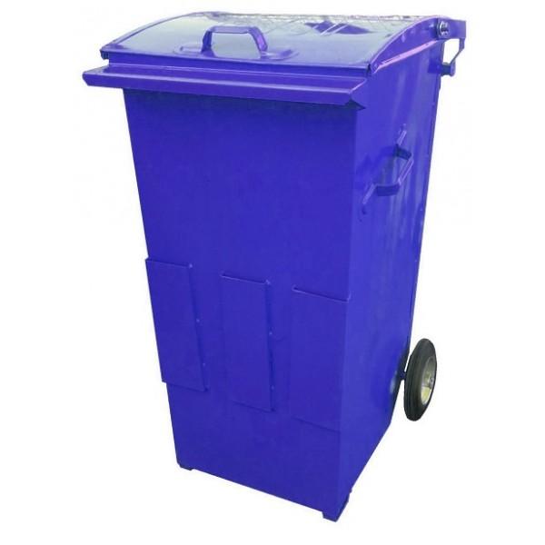 Pojemnik metalowy na odpady komunalne o pojemności  240L