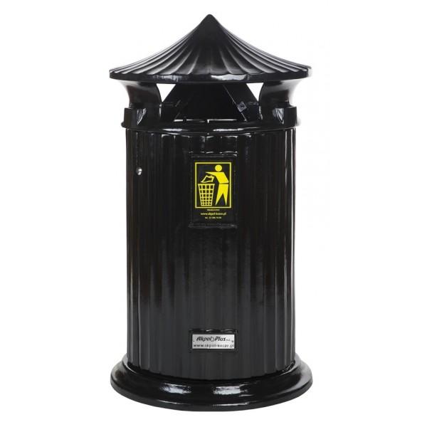 Uliczny kosz na śmieci Patryk 140L
