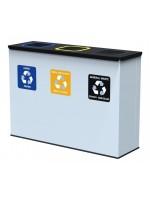 Antybakteryjny pojemnik na odpady EKO STATION 3 x 60 L