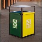Kosz do segregacji odpadów Flower 4 x 40 L
