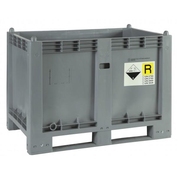Skrzyniopaleta z polietylenu na zużyte akumulatory 550 L