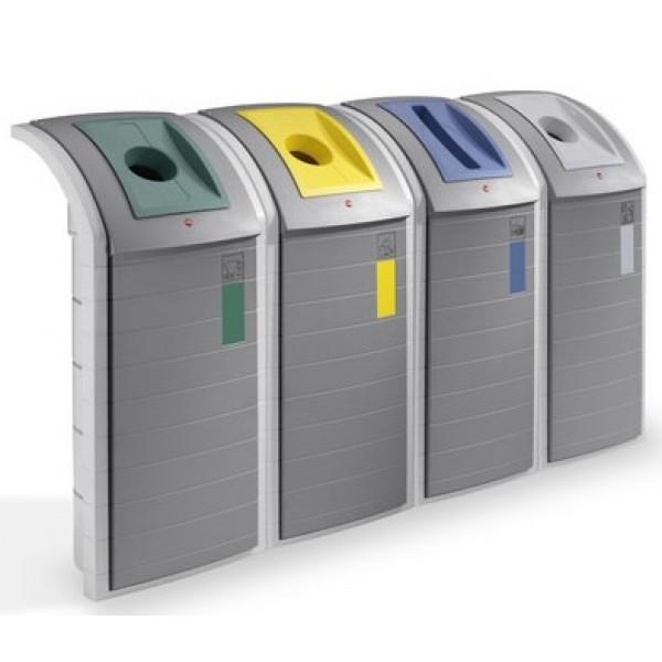 Pojemnik na odpady Brick 4 x 120 L