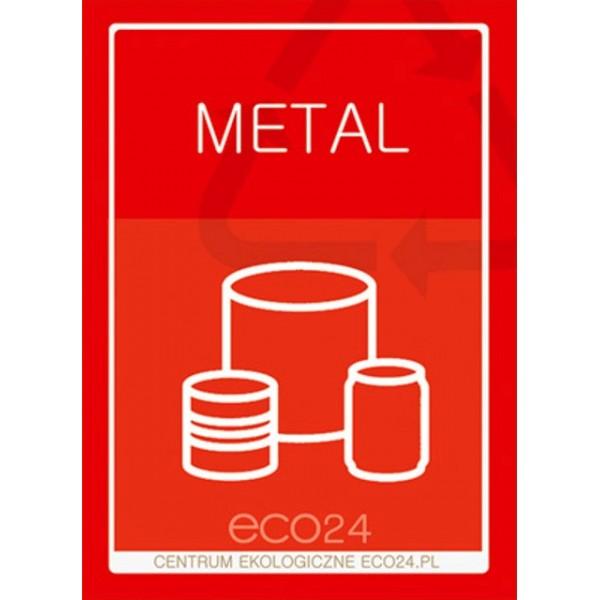 Naklejka na pojemniki do selektywnej zbiórki METALU A5