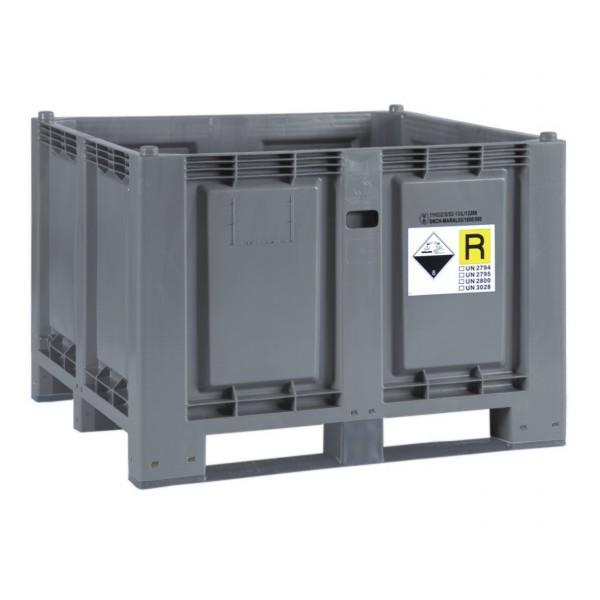 Paleta z polietylenu na zużyte akumulatory 680 L