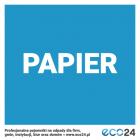 Naklejka na kosz do segregacji odpadów 7,5 x 7,5 cm – papier