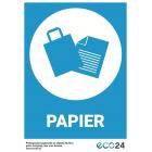 Naklejka na kosz do segregacji odpadów A5 – papier