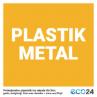 Naklejka na kosz do segregacji odpadów 7,5 x 7,5 cm – plastik i metal