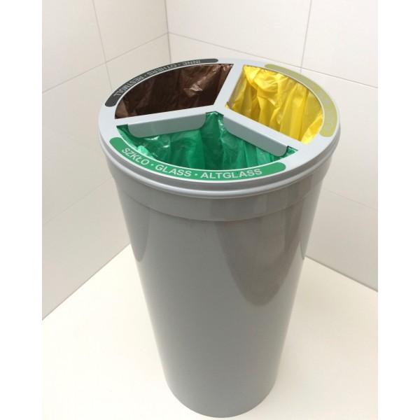 Kosz 3-modułowy do segregacji odpadów