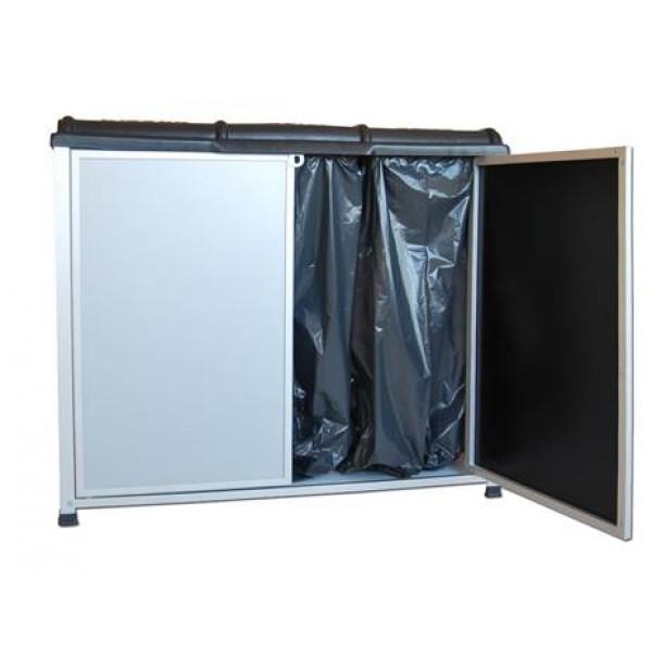 Zabudowany stojak na worki do segregacji odpadów 3 x 120 L