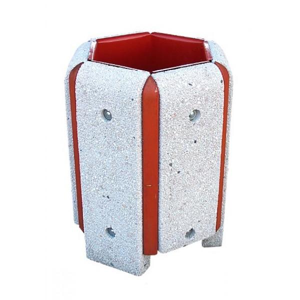 Kosz betonowo- drewniany Izydor 40 L