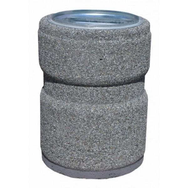 Kosz betonowy z przetłoczeniem 40 L