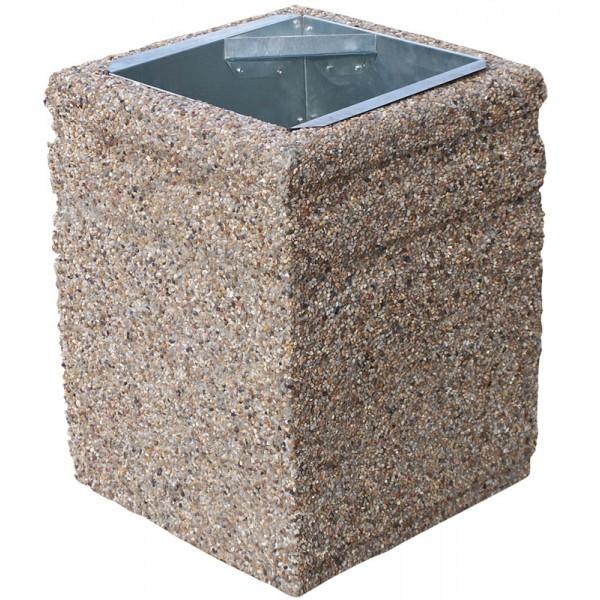Betonowy kosz na śmieci Mira 40 L