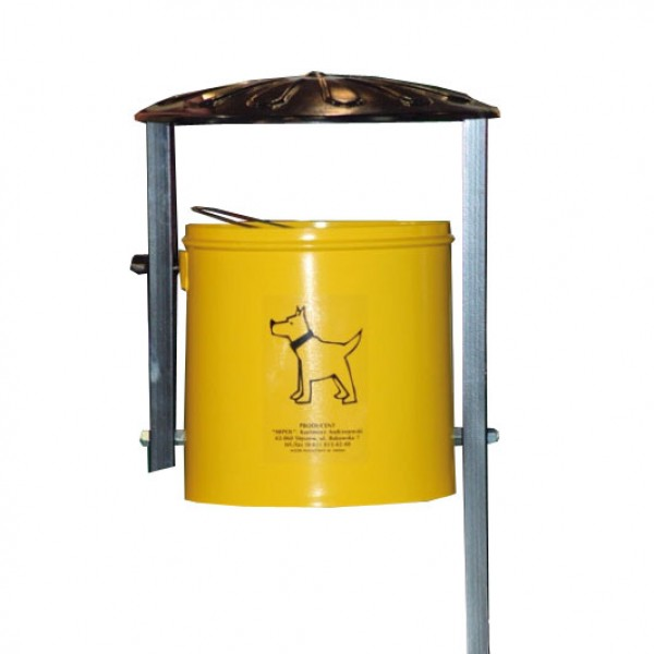 Uliczny kosz na śmieci Azor 35L