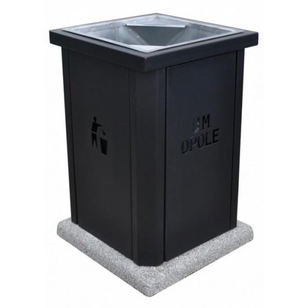 Uliczny kosz na śmieci Juta 65 L