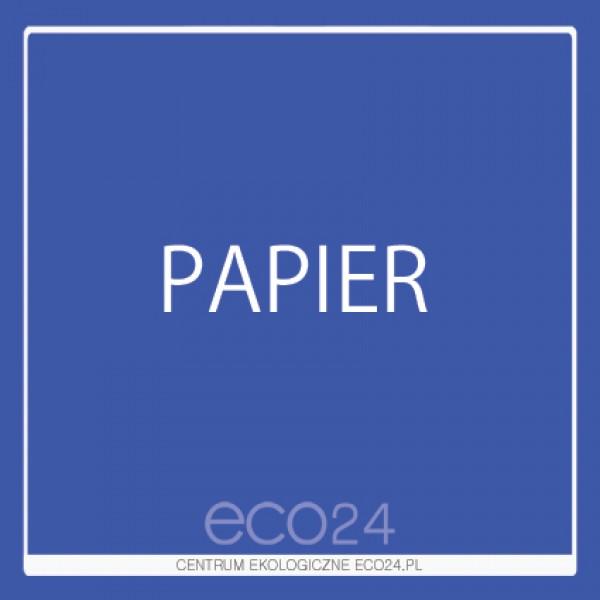 Naklejka na kosz do segregacji odpadów 15 x 15 cm – papier