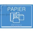 Naklejka eko na kosz segregacja śmieci A4 PAPIER