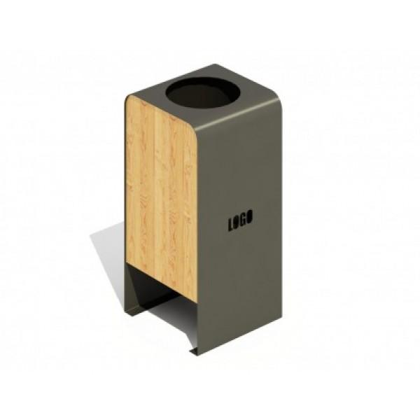 Kosz na śmieci drewniano-metalowy PLAYEKO