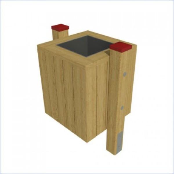 Kosz na śmieci drewniany PROSYMPATYK