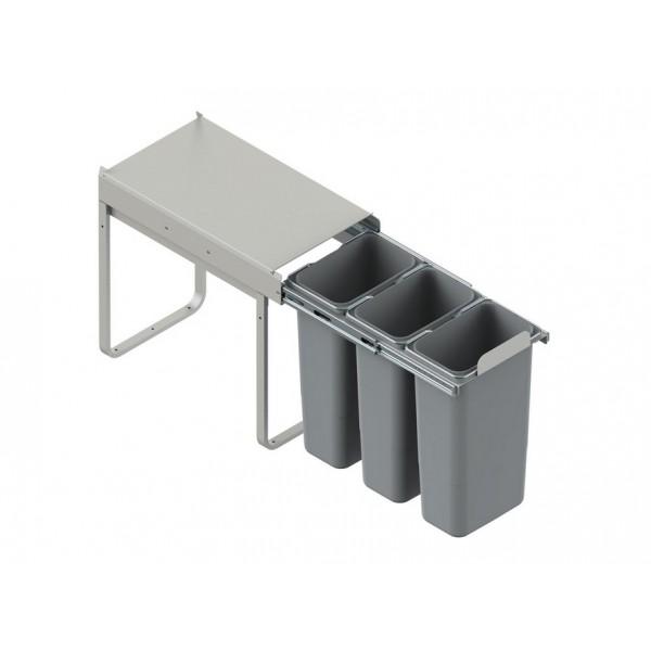 Wysuwany kosz do segregacji odpadów 3 x 9 L (30 cm)