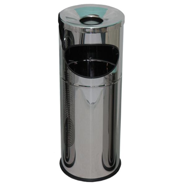 Pojemnik metalowy z popielnicą Tabarella INOX 17 L
