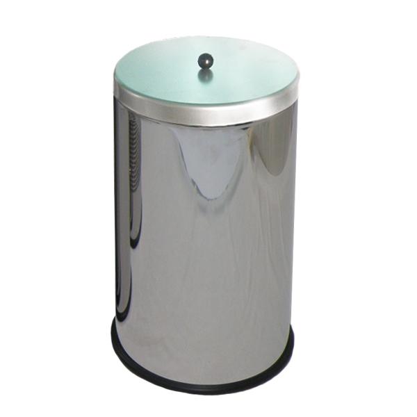 Pojemnik metalowy z pokrywą i uchwytem Lukka 25 L INOX