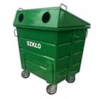 Pojemnik metalowy do segregacji odpadów  1100 L