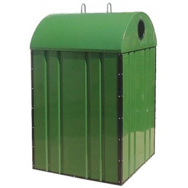 Pojemnik  metalowy do segregacji odpadów PDS - OT - typu dzwon