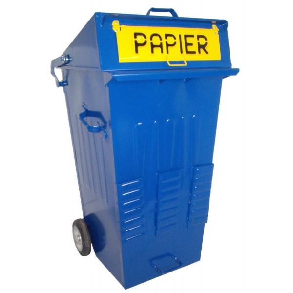 Pojemnik  metalowy 240 L do segregacji odpadów