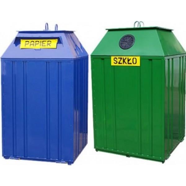 Pojemnik  metalowy do segregacji odpadów PDS- KT - typu dzwon