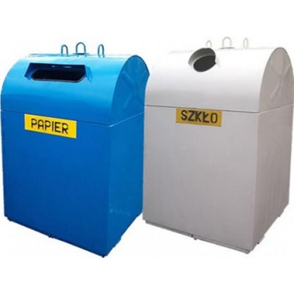 Pojemnik metalowy do segregacji odpadów PDS-O - typu dzwon