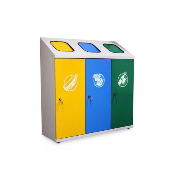 Pojemnik do wewnętrznej segregacji odpadów 3-modułowy