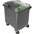 """Pojemnik 4-kołowy z """"pokrywą w pokrywie"""" Weber 1100 L"""