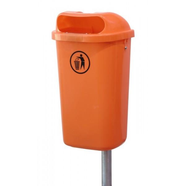 Uliczny kosz na śmieci Din 50L Europlast