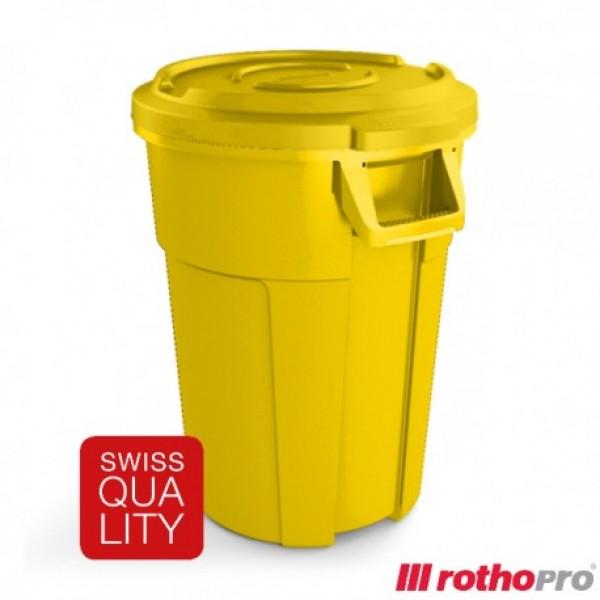 Kosz na odpady Tytan 85 L Rotho na kółkach