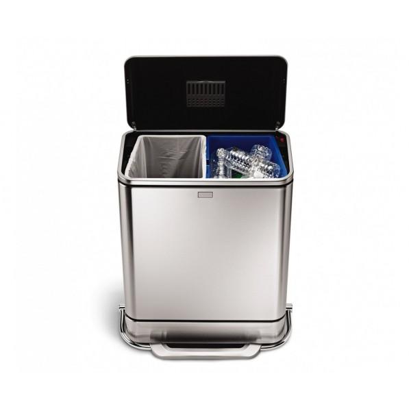 Kosz na śmieci Steel Bar Recycler 48 L Simple Human