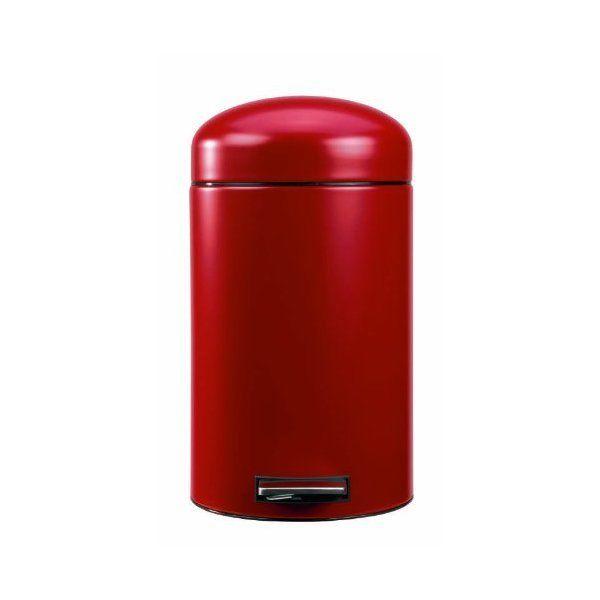 Kosz na śmieci Retro 4,5 L Simple Human Czerwony