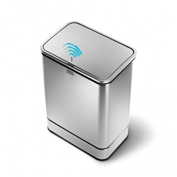 Kosz na śmieci Sensor 40 L z powłoką FPP Simple Human