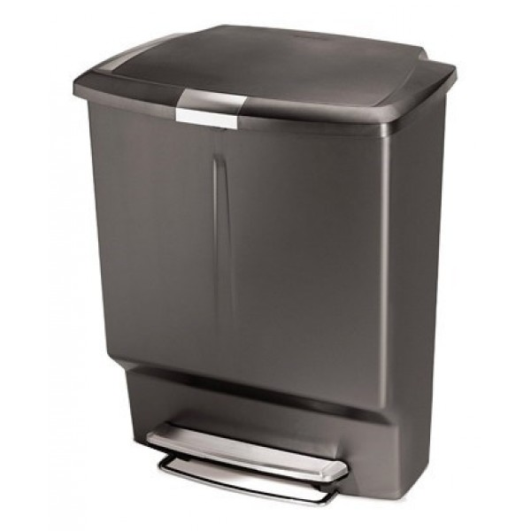 Kosz na śmieci Steel Bar Recycler 48 L Simple Human Szary