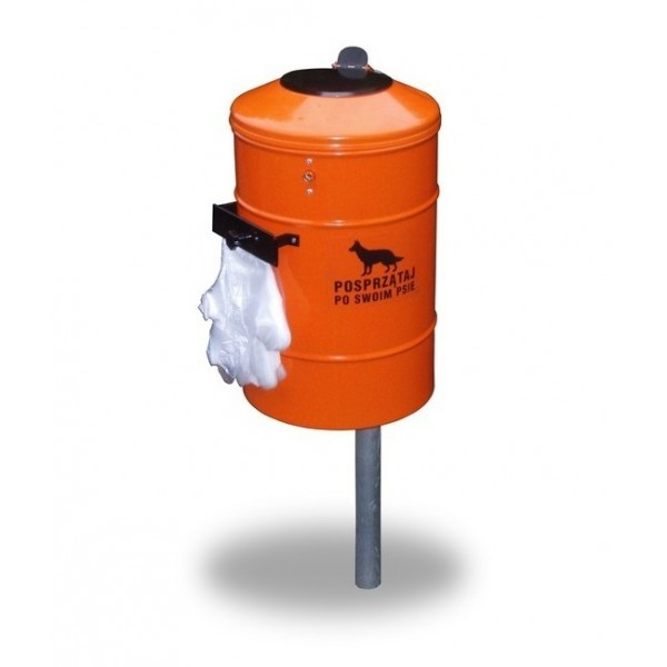 Uliczny pojemnik na odchody zwierzęce REX MAX 50 L