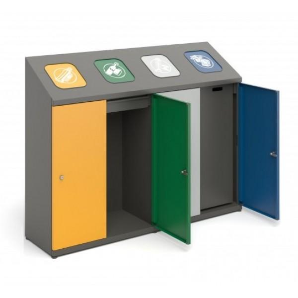 Pojemnik do wewnętrznej segregacji odpadów 4-modułowy
