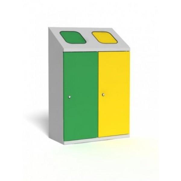 Pojemnik do wewnętrznej segregacji odpadów TETRIS 2 x 70 L
