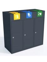 Stacja do segregacji odpadów Moderno Bin 3 x 40 L