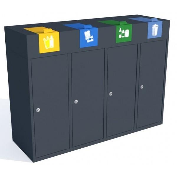 Stacja do segregacji odpadów Moderno Bin 4 x 40 L