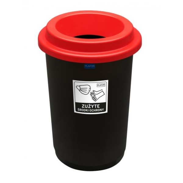 Pojemnik do segregacji ECO BIN 50 L na zużyte maseczki i rękawiczki