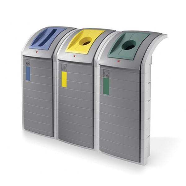 Pojemnik na odpady Brick 3 x 120 L
